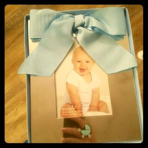 Mudpie 4x6 silver plate picture frame